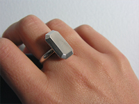 Rectangular Stone Ring